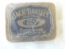 JACK DANIELS 1993 OLD TIME OLD No.7 TENNESSEE WHISKEY BLACK & GOLD BELT BUCKLE