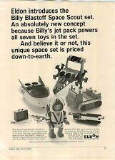 1968 PAPER AD Billy Blastoff Space Sout Toy Ray Gun Jet Pack Bull Dozer Plane ++