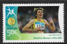 AUSTRALIA 2006 COMMONWEALTH GAMES ATHLETICS Womens Lisa McIntosh 100m EAD 1v MNH
