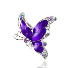 Evening Brooch Pin Br343 Beautiful Purple Butterfly Corsage Decoration
