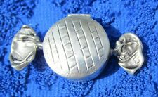 Vintage 925 Sterling Silver Candy Wrapper PILL TRINKET BOX