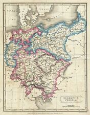 1822 Butler Map of Germany and Prussia