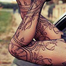 Sheer Mesh Slim Tattoo Lace Fishnet Tights Stockings Pantyhose