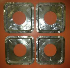 4pc Aluminum Foil Square Gas Burner Disposable Liners Stove Covers:Fast/Free S&h