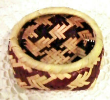 Vintage Mississippi Choctaw Indian River Cane Collectible Basket Hand Woven Mint