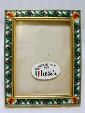 Micro Mosaic Portrait Miniature Frame Made in Italy for Hess's Department Store