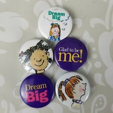SET of 5 Vintage AG American Girl Mini Grin Pins Confidence diversity self love