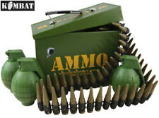 Kids Army Ammo Gift Tin Fully Loaded Play Grenade Set Bullet Belt Boys Soldier