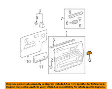 GM OEM Front Door-Handle Bezel Left 15186382