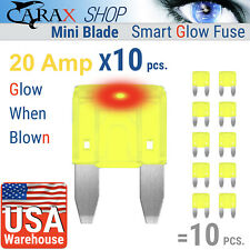 Fuses 20 AMP MINI blade small size smart ATC ATO LED indicator GLOW WHEN BLOWN