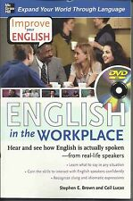 English in the Workplace [With DVD] by Stephen E. Brown Paperback Book (English)