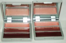 2 MARIO DE LIUIGI Make Up Your Makeup Trio LIP Gloss In Compact Purple Tan Pink