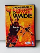 "DWYANE WADE  Signed ""The Rise Of Dwyane Wade"" DVD Cover Insert #2 JSA M58152"