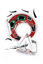 The Longhouse Danny Dennis Art Card Tsimshian Northwest Coast Native No. 598
