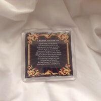 Personalised Coaster - Brother  Poem -  Black  Design   +  FREE GIFT BOX