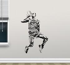 Michael Jordan Wall Decal Basketball Vinyl Sticker Art Poster Gym Decor 105nnn