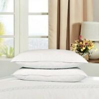 Premium Extra Filled Duck Feather & Down Pillows Hotel Quality 100% Cotton Cover