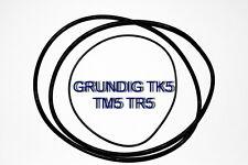 SET BELTS GRUNDIG TK5 TM5 TR5 REEL TO REEL EXTRA STRONG NEW FACTORY TK TM TR 5