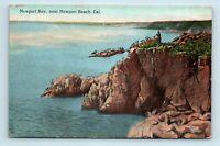 Newport Beach, CA - EARLY VIEW OF NEWPORT BAY - VINTAGE POSTCARD