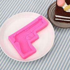 Gun Shaped Silicone Fondant  DIY Chocolate Sugarcraft Cake Mold Baking Tool