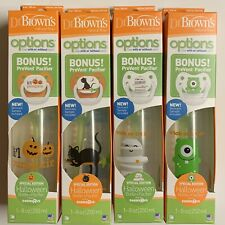 Dr Brown's Natural Flow Halloween Bottle + Pacifier Lot Of 4 Babies R Us 8oz