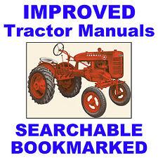 IH Farmall McCormick A & AV Tractor SERVICE MANUAL & Operators -2- MANUALS CD