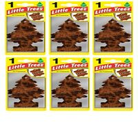 6 x Leather Scent Magic Tree Little Trees Car Home Air Freshener Freshener