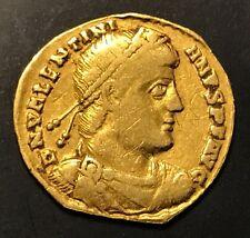 ANCIENT ROMAN GOLD COIN, VALENTINIAN I - LYON MINT, 364-375 A.D. VERY RARE COIN
