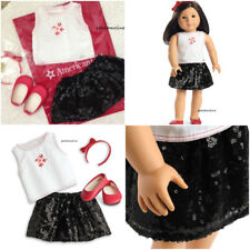 American Girl SEQUIN SKIRT OUTFIT~NEW~Truly Me Mix & Match~Shoes~Tenney~Z Yang