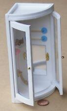 1:12 Scale Wooden Corner White Shower Unit Dolls House Miniature Accessory 117