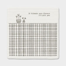 East of India Porcelain Coaster If Friends Were Flowers