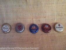 Cinco Chapas Tapones Cerveza Varias Marcas Para Coleccionista Muy Buen estado