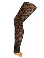 Leggings Gothic sexy Spitze Netz, geometrisches Muster, one size Netzleggings