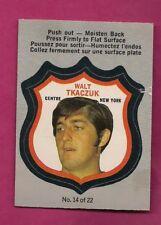 1973-74 OPC RANGERS WALT TKACZUK PLAYER CREST  INSERT CARD (INV# A7139)