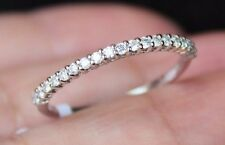 New Kobelli 14K Diamond Half Eternity Stackable Thin Ring Wedding Band USA