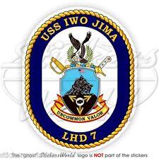 USS Iwo Jima LHD-7 Distintivo USA Nave D'Assalto Anfibio MARINA MILITARE Adesivo