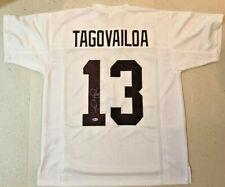 Tua Tagovailoa Autographed Alabama White Jersey - Signed Beckett BAS