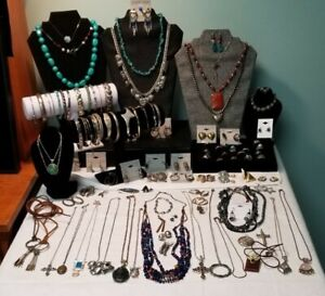VTG 925 Sterling Silver Southwest Style jewelry Lot! 1365 Grams! 108 Items!