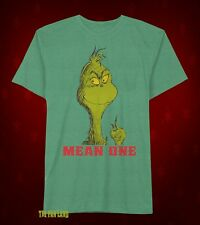 New Dr.Seuss The Grinch Nice One Mens Christmas Vintage T-Shirt