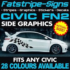 HONDA CIVIC FN2 GRAPHICS STRIPES DECALS STICKERS TYPE R S VTEC 1.6 2.0 JAP MUGEN