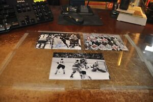Lot of 9 hockey nhl rp pictures photo of vintage players bobby orr gordie howe +