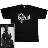 Opeth Group Photo Logo T-Shirt Black Small Medium Heavy Metal Prog Rock New