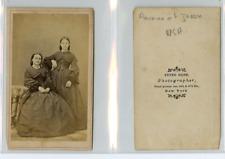 P. Babb, New York, Mesdames Florence et Jessia  CDV vintage albumen carte de vis