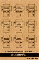 Plus Model 1:35 US Cardboard Boxes-Postwar Period Paper Diorama Accessory #129