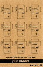 Plus Model 1:35 US Cardboard Boxes-Postwar Period Paper Diorama Accessory #129