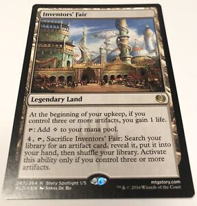 Inventor's Fair MTG Rare Legendary Land NM 247/264
