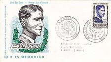 Enveloppe 1er jour timbrée GUERRE 39-45 WW2 1957 résistance D'ESTIENNE D'ORVES
