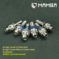CNC Turbo Dump Pipe Stud Kit For Nissan S13 S14 S15 SR20DET CA18DET (6 sets)