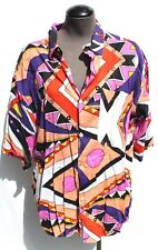 Vtg 1990s Mens Substudio Retro Western Cowboy Ranchwear Aztec Collar Shirt