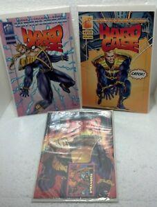 TRIO 1993 Malibu Comics HARDCASE Issues #1 ,2 (sealed w/card) & 3 NM/VF